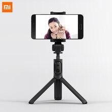 Xiaomi Tripé dobrável para selfie, monopé, bastão para selfie, vara para fotografar a si mesmo, botão disparador, Bluetooth, com wireless, original para iOS/Android/Xiaomi