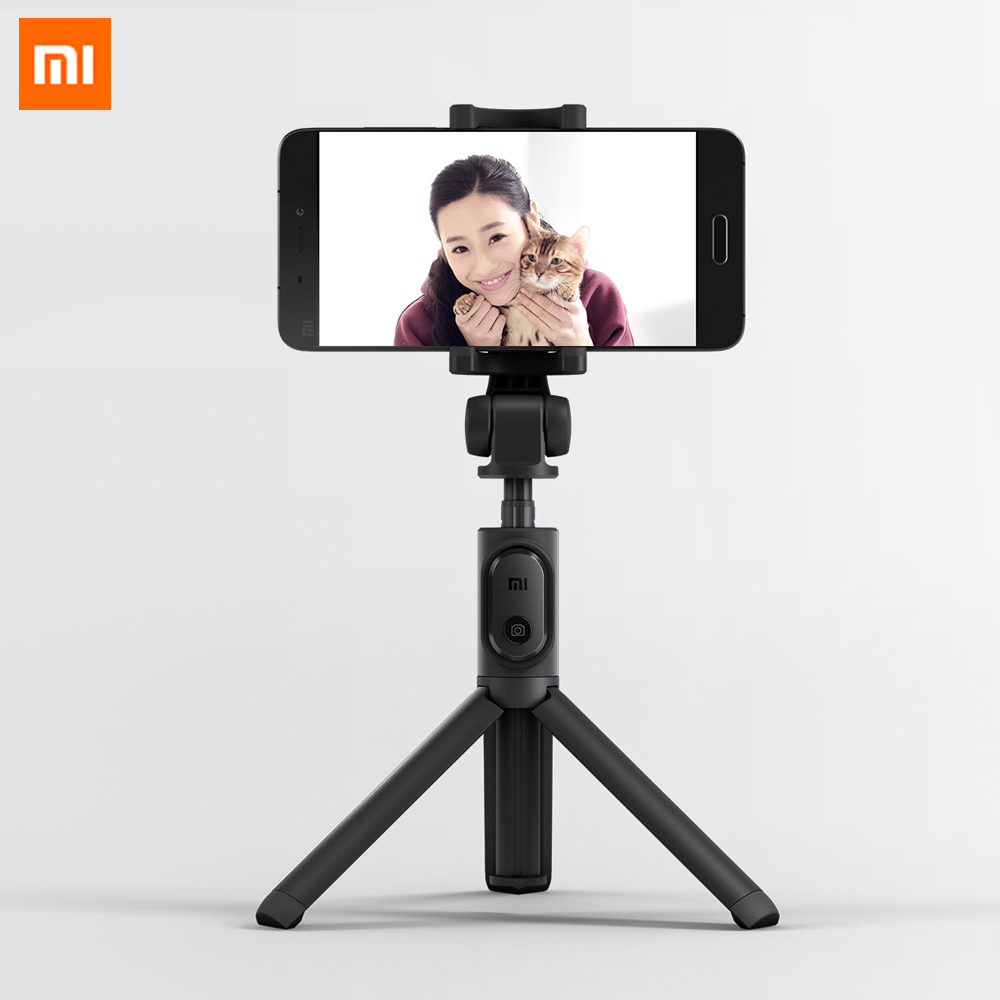 Xiaomi originais Dobrável Tripé Monopé Selfie Vara Bluetooth Selfie Vara Com Botão Do Obturador Sem Fio Para iOS/Android/Xiaomi
