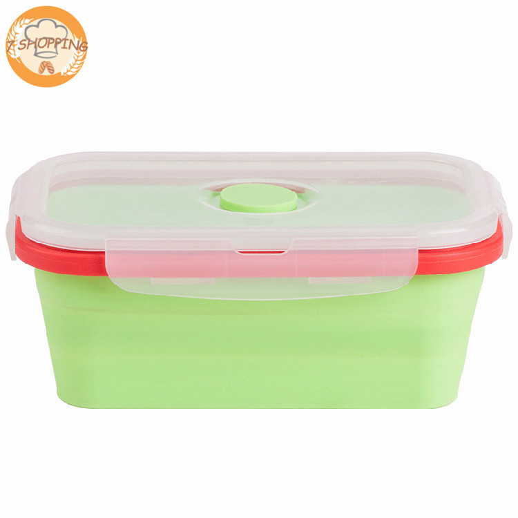 4 Pack Food Storage Containers Silicone Collapsible Lunch Box Oven