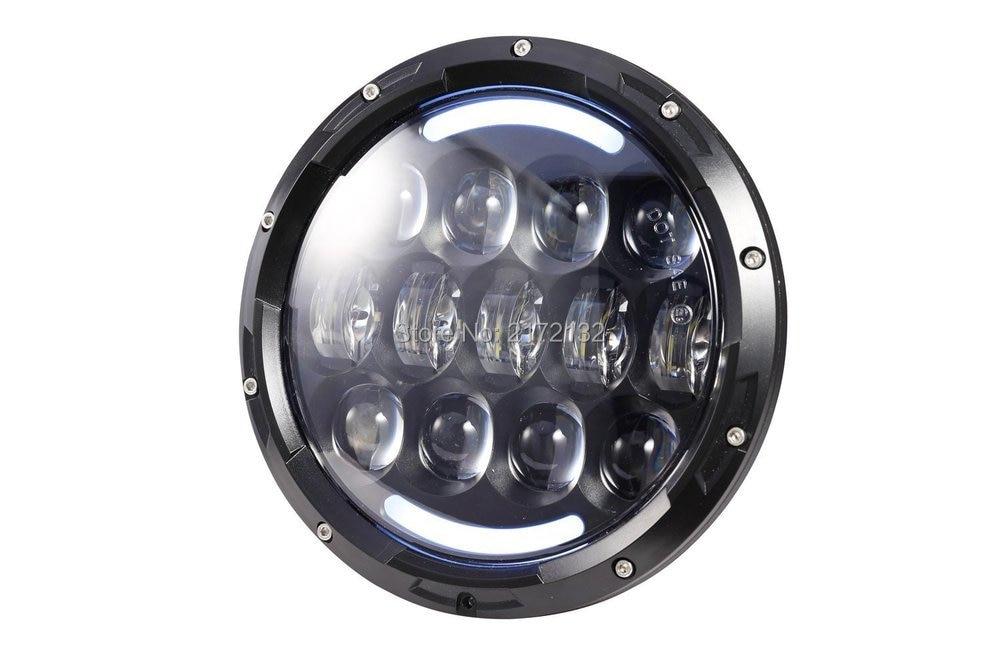 "Promotion 1pcs 7"" Led Headlight High/low Auto Headlight 7inch Headlight Led With amber turning signal eye"