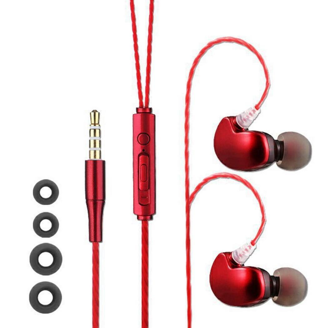 In-ear Earphone Earbuds Stereo Sport Noise Isolating Headset with Mic for iphone Xiaomi Sa