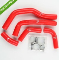 Red Silicone Radiator Cooling Hose Kit For Honda CRF450 CRF 450 2006 2008 2007