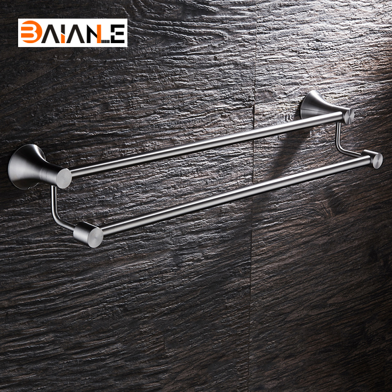 Towel Bars Stainless Steel Holder Bath Shelf Towel Hanger Wall Mounted Bathroom Accessories Towel Rack leyden high quality wall mount 304 stainless steel orb chrome finish towel rack holder hanger bath towel clothes storage shelf