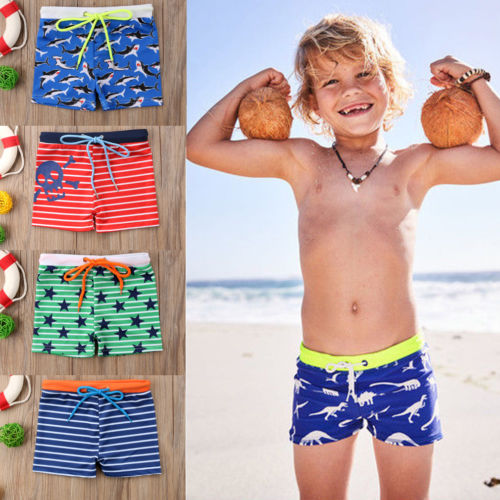 Able Telotuny Boys Swimming Trunks 2pcs Kids Baby Boys Stretch Beach Swimsuit Swimwear Trunks Shorts+hat Set #40 Home