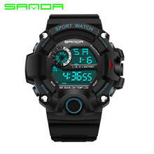 2016 Sanda Brand Watch Men Fashion LED Digital Military Sport Watch Waterproof Wrist watches Clock reloj hombre bayan kol saati