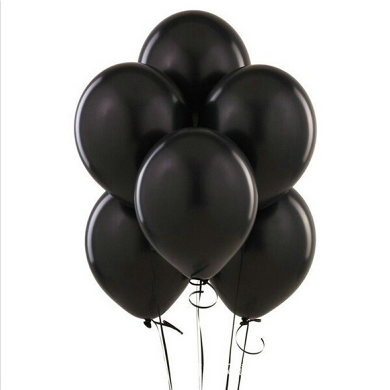 Black Balloons 20PCs 10 Inch Thick 1.5 g Birthday Baloon Decorations Wedding Ballons Pink White Purple Globos Party Decoration