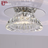 Free Shipping New Item Modern Ceiling Crystal Light LED Downlight Hallway Light Aisle Lamp