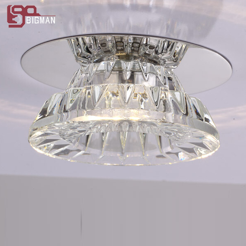 new item modern ceiling crystal light LED downlight hallway light aisle lamp modern led crystal ceiling light hallway aisle fixture e14 lamp 90 220v