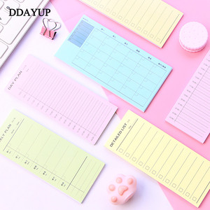 1Pcs Memo Pad Daily Weekly Month Planner Check List Portable Small Book Memo Pad Sticky Notes Stationery School Supplies