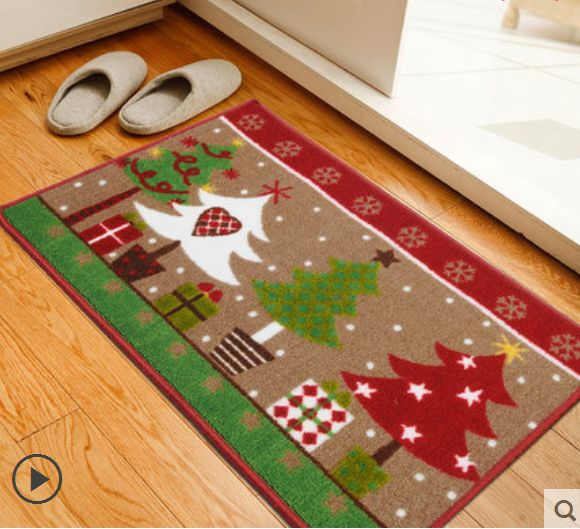 Ordinaire Christmas Xmas Tree Style Nonskid Non Slip Living Room Floor Mat Door Mats  Area Rug Home Decor Decoration In Party DIY Decorations From Home U0026 Garden  On ...