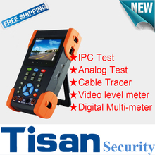 3.5 inch IP Analog Camera Tester with Digital Multi-meter , Cable Tracer and Video level meter cctv tester