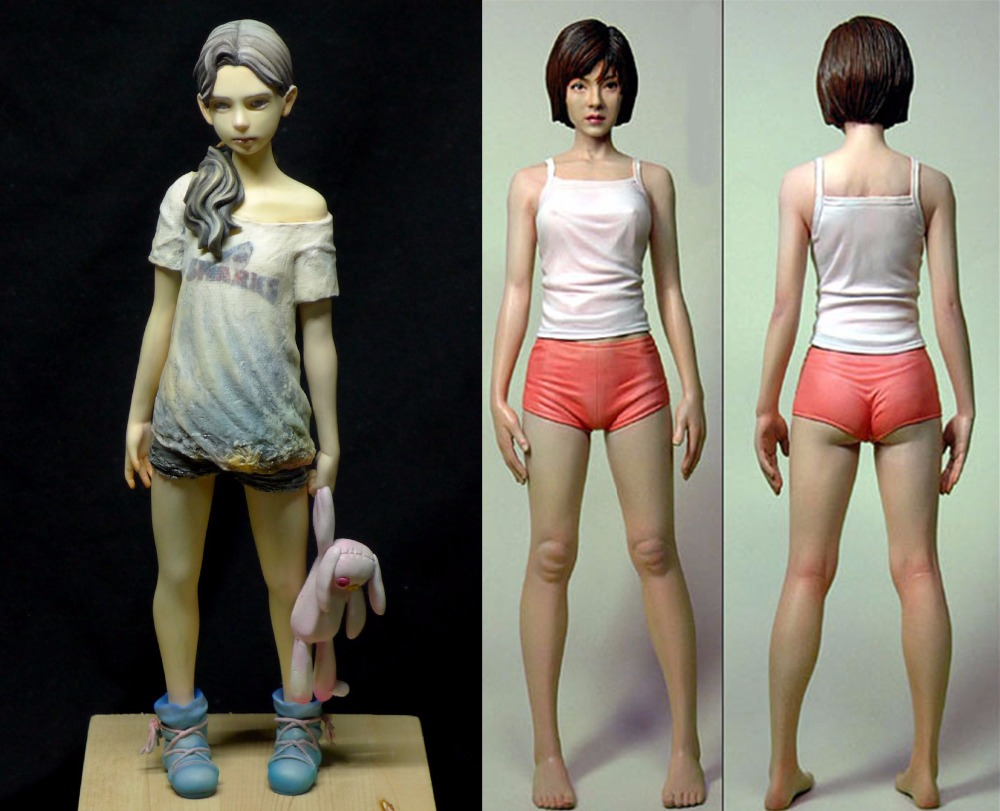 Assembly Unpainted  Scale 1/6  Contagion Girl  And Hayashi Hiroki Girl  High 26mm  Historical  Resin Model Miniature Kit