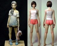 Assembly Unpainted Scale 1/6 contagion girl and Hayashi Hiroki girl high 26mm Historical WWII Resin Model Miniature Kit