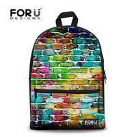 FORUDESIGNS Korean Style New Fashion Backpack for School Teenager Girls 3D Print Rucksacks Student Schoolbags New Brand Bags