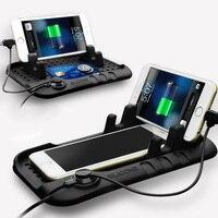 Multi Functional Silicon Car Charger Car Anti Slip Mat Holder Sticker Car Non Slip Dash Pad