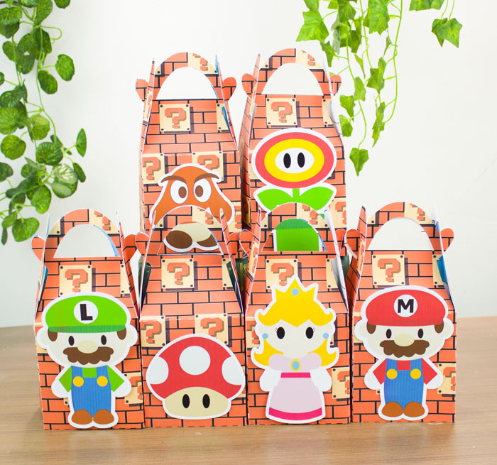 Mario Bros Favor Box Candy Box Gift Box Kids Birthday Party Supplies Decoration Event Party Supplies