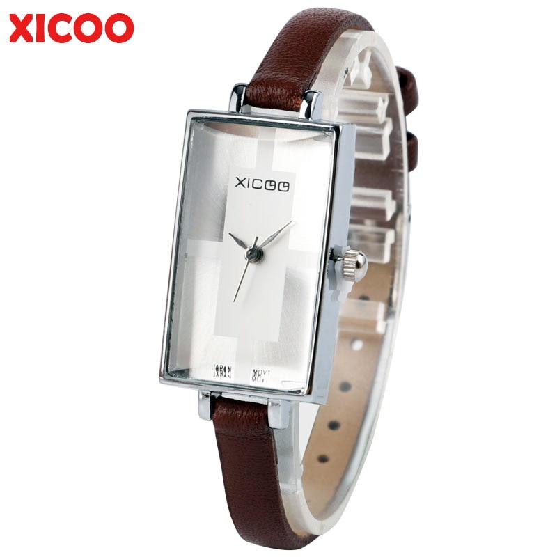 2017 XICOO Fashion Women Watches Fashion Lady Luxury Wristwatches Genuine Leather Dress Quartz Watch Bracelet Female Clocks Hour kimio famons brand women watches fashion diamond wristwatches lady dress wristwatches quartz women s bracelet watches clocks