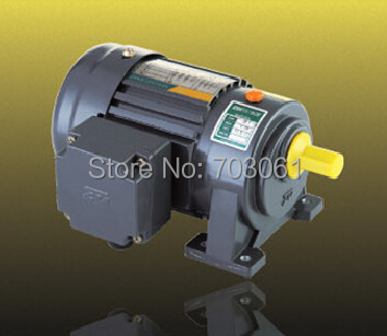 100W output power small AC gear motor 1# gearbox with 3-phase motor ratio 3~50 three phase induction motor