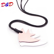 Design Fashion Leather Necklaces For Women Pendants Fish Gothic Handmade Necklace Punk Harajuku Choker Suspension Chains punk style solid color chains necklace for women