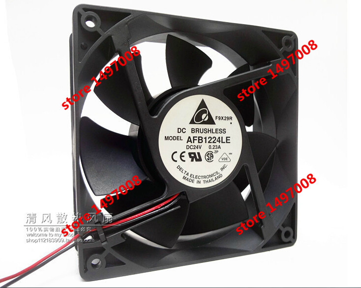 Free Shipping For DELTA  AFB1224LE DC 24V 0.23A,  2-wire 80mm 120x120x38mm Server Square cooling fan палатка novatour novatour mp002xu00ba7