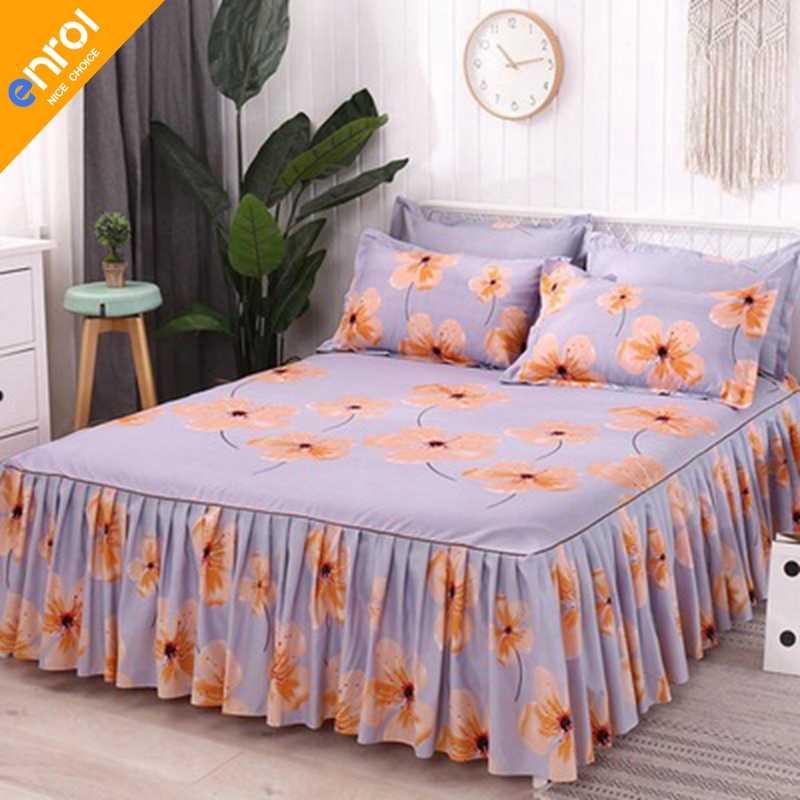 3 قطعة الأزهار المجهزة غطاء ورقة رشيقة المفرش الدانتيل المجهزة ورقة نوم غطاء السرير تنورة الزفاف هووسورمينغ هدية