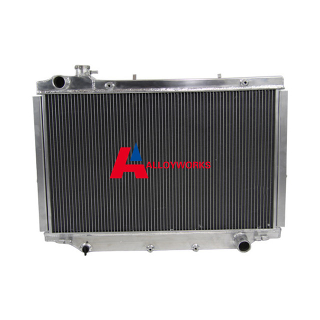 US $285 99  4 Core Aluminum Radiator FOR Toyota Land cruiser 80 Series  HZJ80 90 98 93 95 MT Automobile Cooling Replacement Parts NEW BRAND-in  Engine