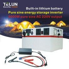 TELUN peak 2000W 1000W DC 12V to AC 220V 200000mAh 65Ah pure sine inverter Internal battery