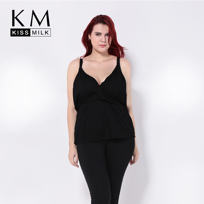Detail Feedback Questions about Kissmilk Plus Size Wrap Spaghetti Strap  Camis Newest Fashion Casual Loose Women Tops Ruffle Black Purple Female  Tops on ... 8973636f4819