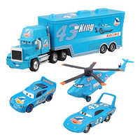 4Pcs Disney Pixar Cars 2 Lightning McQueen The King Aircraft Mack Uncle Track 1:55 Diecast Metal Alloy Modle Gifts Kids Toys