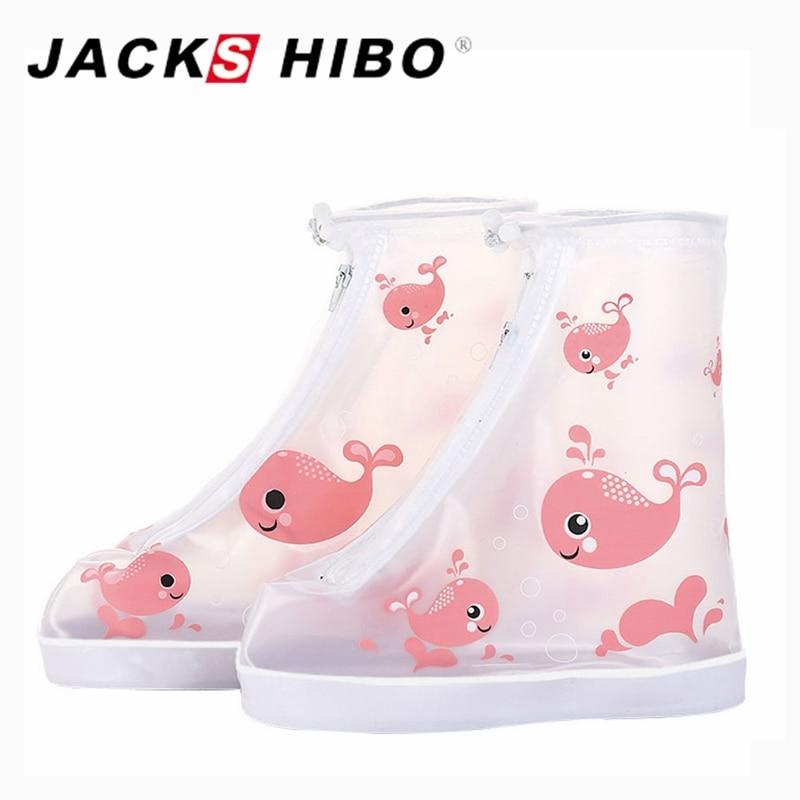 Protetor Sapato JACKSHIBO Crianças Capa de Chuva para Sapatos Estampas de Animais Reutilizável Acessórios para Sapato Cobre Sapatos à Prova D' Água