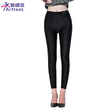 Womens Shiny Leggings Pants Shaping Pants Slim Stretched Bodycon Leggings Chinlon High Elastic Sexy Leggings Women Large Size