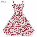 Jurken ZAFUL Vestido de Verão 2016 Vestido Rockabilly Do Vintage 60 s 50 s Retro Pinup Balanço Grande Floral Curto Longo Audrey Hepburn Vestidos