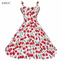 ZAFUL Summer Dress 2016 Vintage Rockabilly Dress Jurken 60s 50s Retro Big Swing Floral Pinup Short Long Audrey Hepburn Dresses