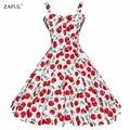 Zaful summer dress 2016 rockabilly vintage dress jurken 60 s 50 s retro pinup balanço grande floral curto longo audrey hepburn vestidos