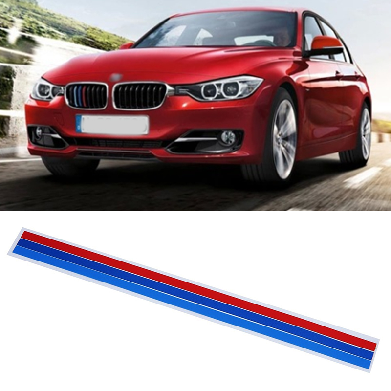 Hawksoar 3 x M-Colored Stripe Car Sticker Kidney Grille Decal fits for BMW Series Auto Parts Reflective Decal Decoration