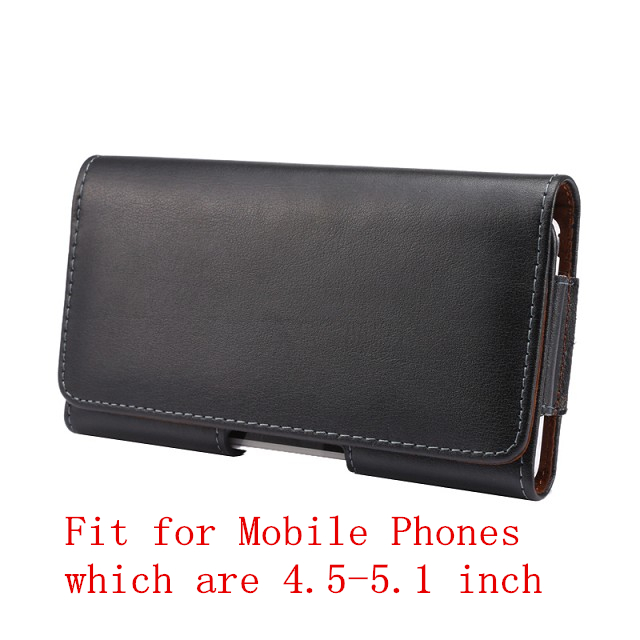HATOLY Genuine Leather Belt Clip Holster Case For 4 5 5 1 Mobile Phone Pouch Cover