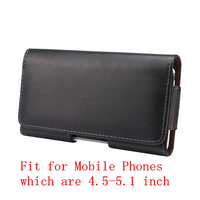 Genuine Leather Belt Clip Holster For 4 5 5 1 Inch Mobile Phone Horizontal Pouch Case