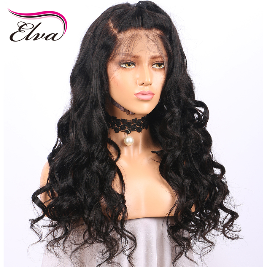 Elva Hair Pre Plucked 250% Density Lace Front Human Hair Wigs For Black Women Body Wave Brazilian Remy Hair Wigs With Baby Hair
