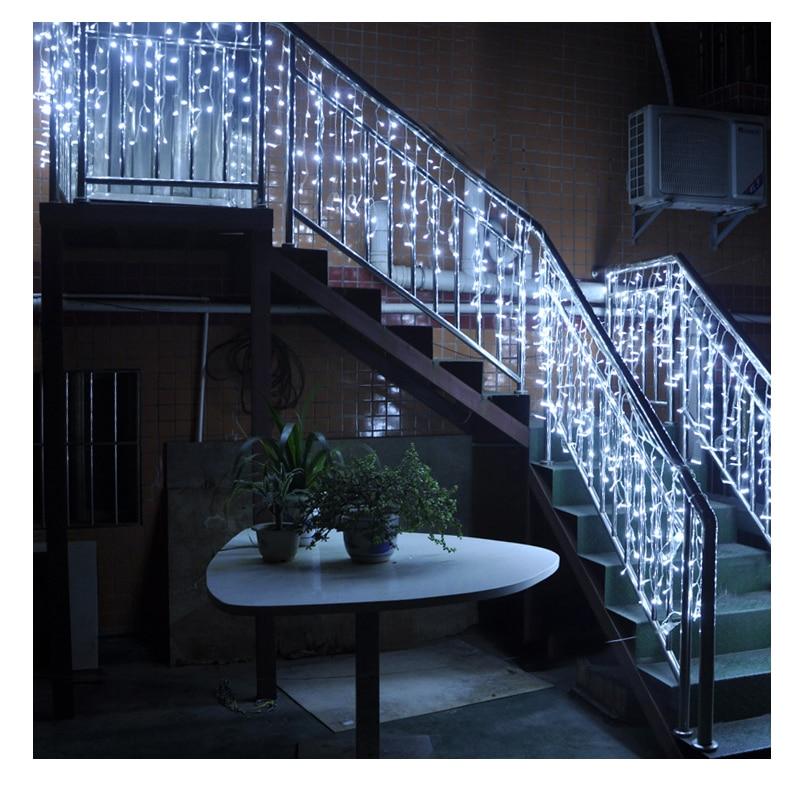 JULELYS 6 * 1M 256 Żarówki LED Zasłona ślubna Światło Boże - Oświetlenie wakacje - Zdjęcie 4