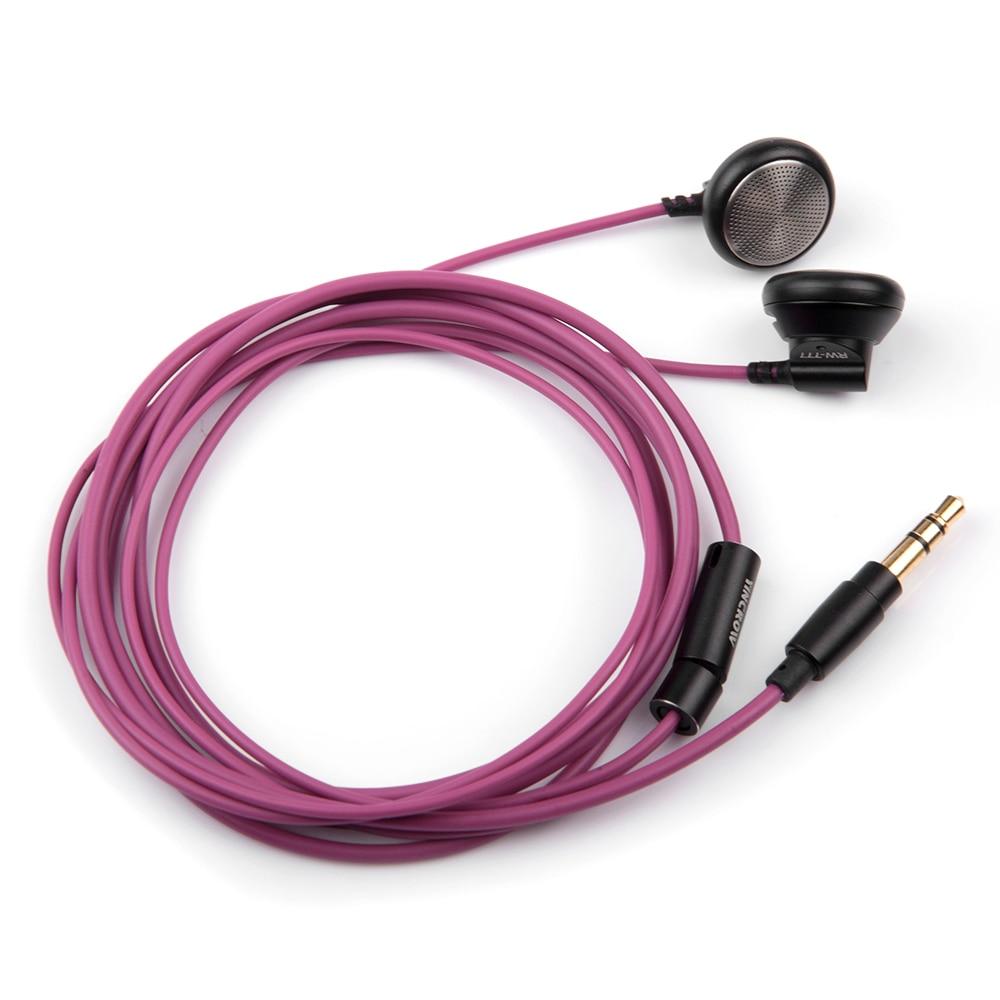 Original YINCROW RW-777 In Ear Earbud Flat Head Plug Earplugs Earbud Metal Earphone Headset