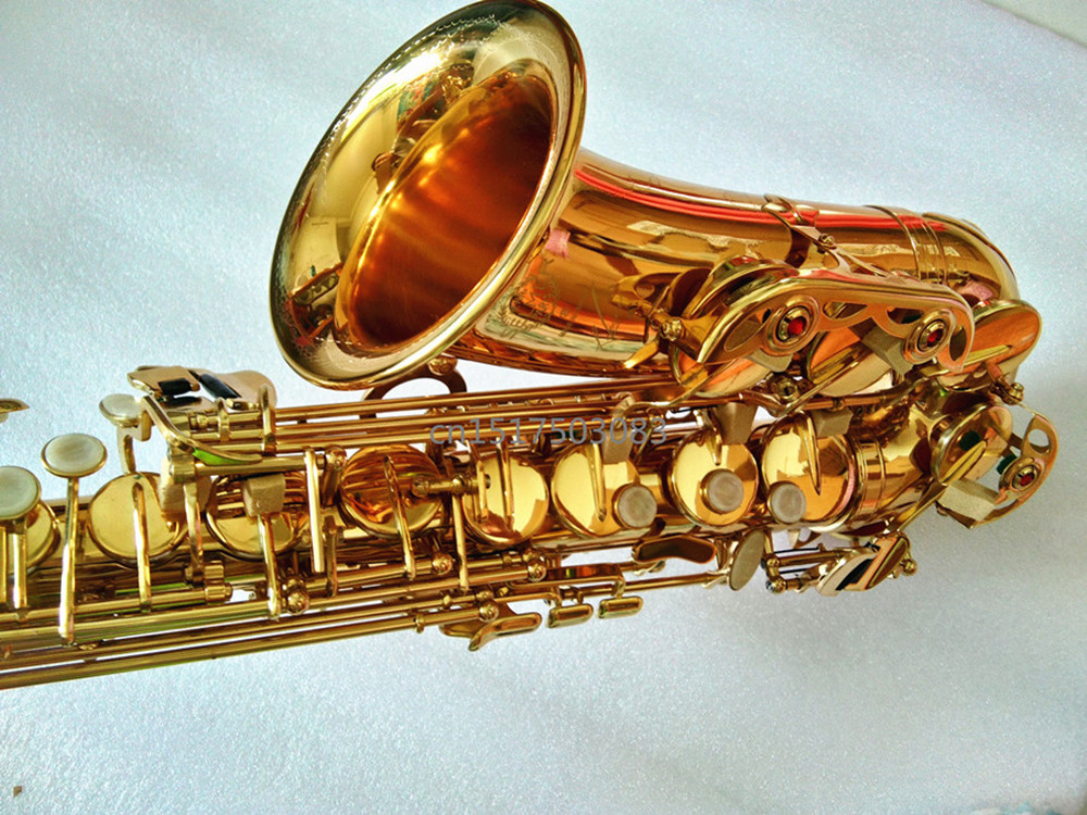 New Saxophone Alto France Henri Selmer SAS-R54 instrument Real high quality Eb saxophone Gift way shipment Golden Sax free shipping new high quality tenor saxophone france r54 b flat black gold nickel professional musical instruments