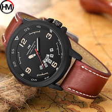 Sport Watch Men Top Brand Luxury Brand Japan Quartz Leather Male Wrist Watch Creative Calendar Military Clock Relogio Masculino цена и фото