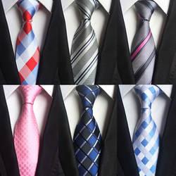 Мода Полосатый плед Для мужчин галстук Персонализированные Цветочные украшения 8-8,5 см серии Для Мужчин's Бизнес галстук вечерние хип-хоп