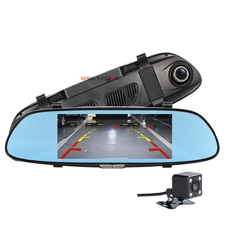 6.5inch FHD 1080P car dvr mirror Dual Lens Loop Recording Motion Detection parking dash cam video registrator 5 inch car camera dvr dual lens rearview mirror video recorder fhd 1080p automobile dvr mirror dash cam