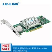 LR LINK 6801BT 10 Gb Nic Cartão Adaptador de Rede Lan Cartão Ethernet Placa de Rede PCI Express X8 Servidor Intel 82599