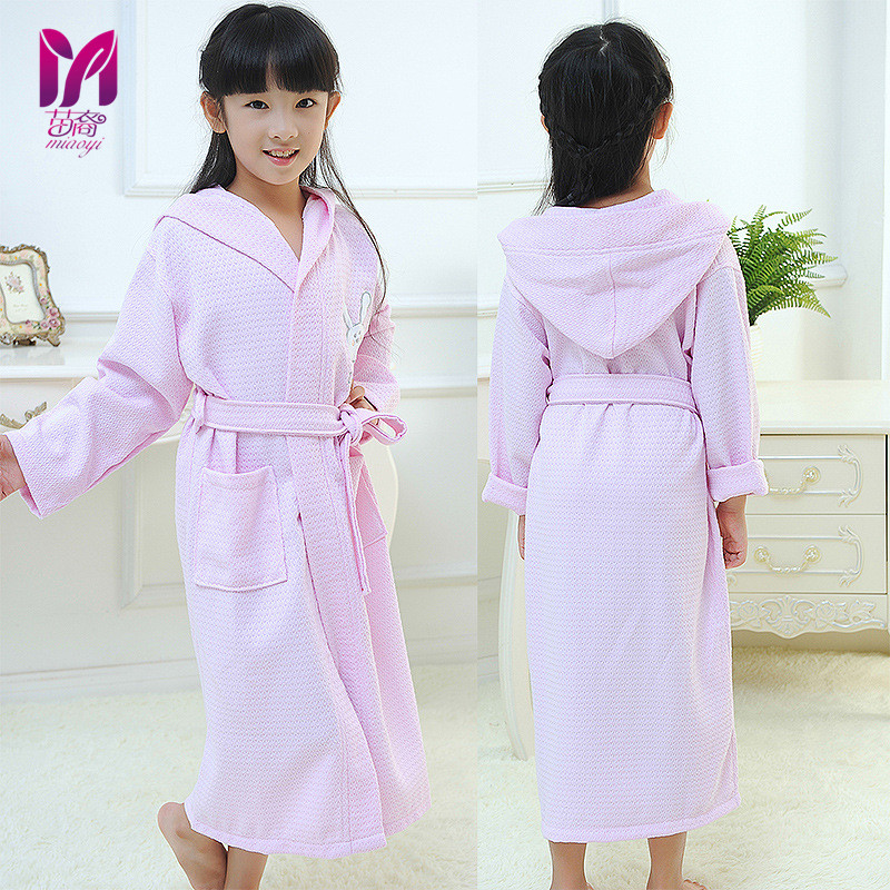 Free shipping 2017 Fashion Boys&Girls Toweling Robe Children's Coral Velvet Bathrobes Dressing Gown Kids rapoo
