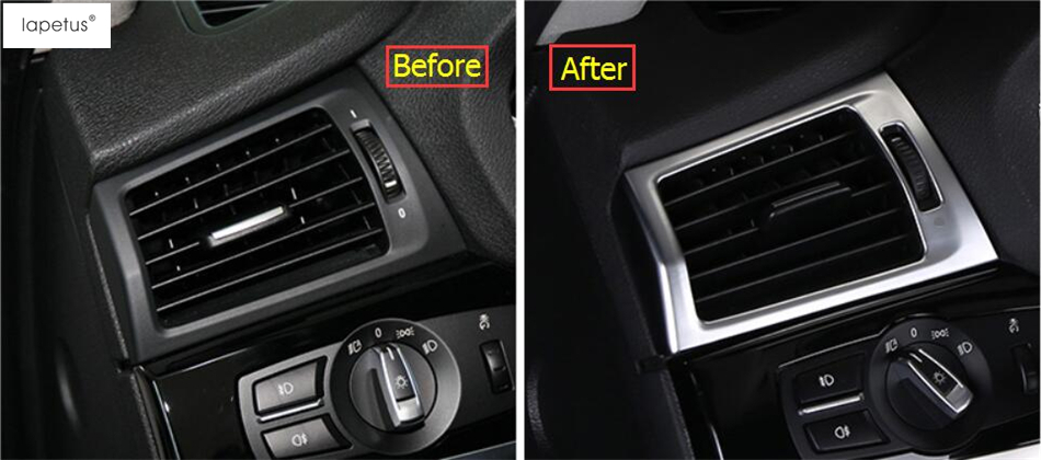 Accessories For BMW X3 F25 X4 F26 2013 2017 Matte Style Inside Air Conditioning AC Outlet Vent Molding Cover Kit Trim 2 Pcs In Interior Mouldings From