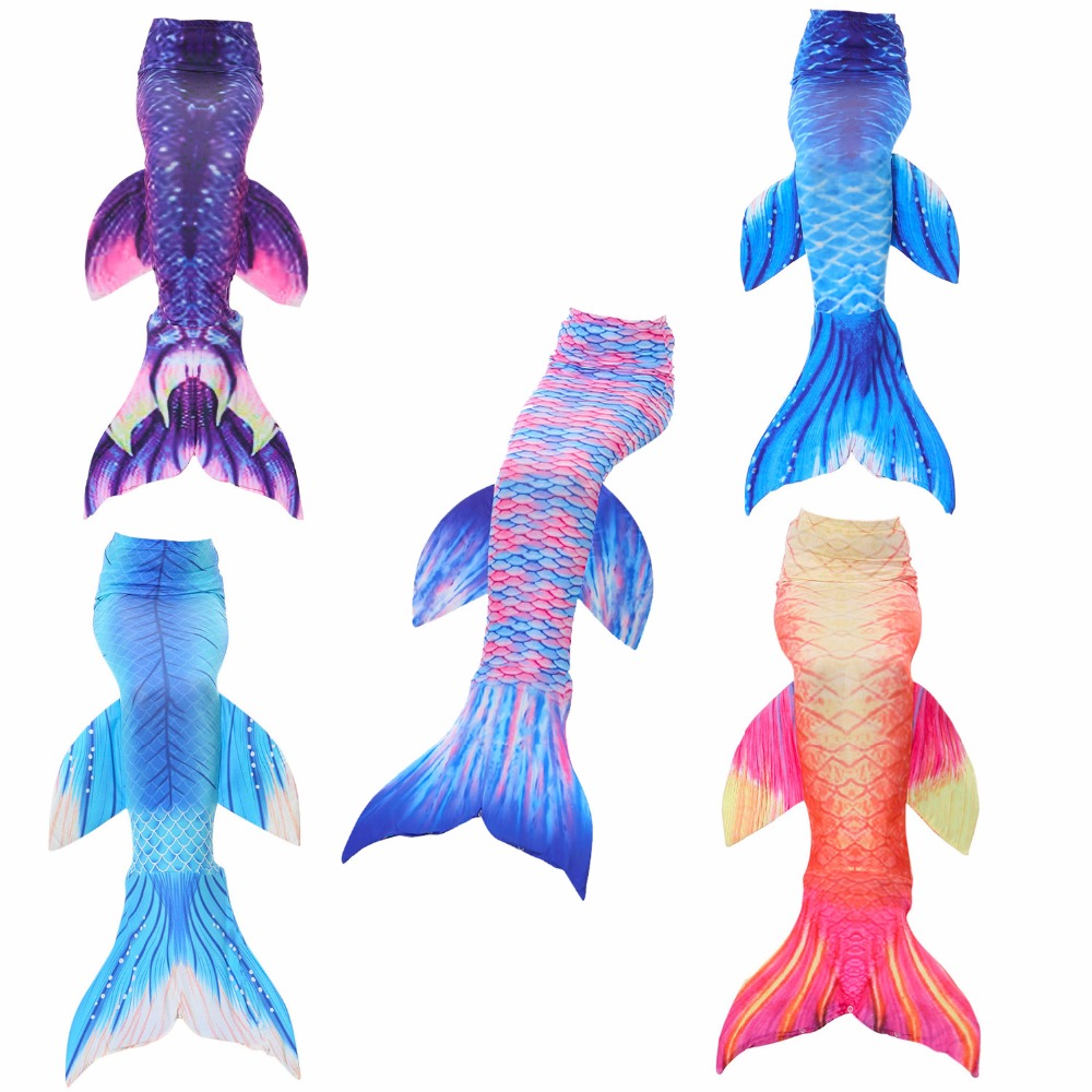 Kids Girls 1pcs/Set Girl's Mermaid Tails Dress Without Monofin Swimming Costume Fairy Mermaid Costume Cosplay Children Clothes