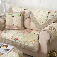 Hot Autumn Winter Cotton Sofa Cover Floral Dot Printed Patchwork Quilting Floor Pad Slip-resistant Towel Home Decor