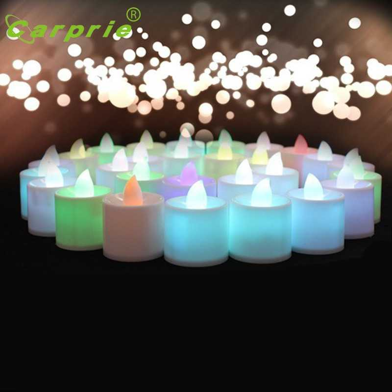 1pc Flameless Candle Mini Colorful Romantic LED Electronic Candle Light For Party Decoration l61206 drop ship